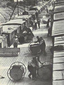 Umladen von Getreidelieferungen aus Sowjetunion