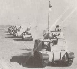M3 Grant der britischen 4. Panzer-Brigade in Nordafrika