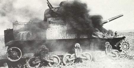 abgeschossener M3A3 Lee der Roten Armee