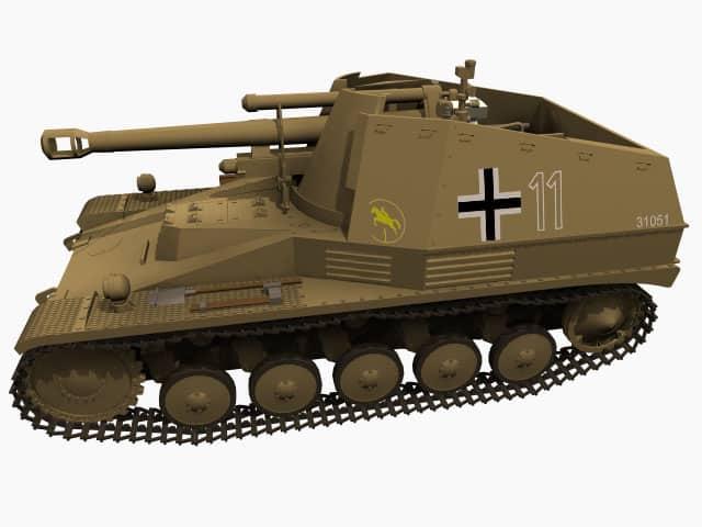 3d-Modell SdKfz 124 Wespe