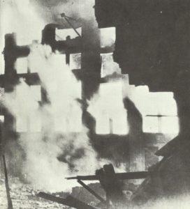 Brennende Gebäude London