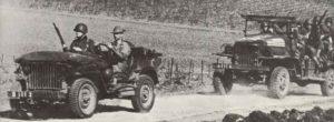 Alliierte Truppen auf dem Weg nach Tunesien