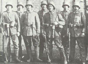 Soldaten eines Garde-Grenadier-Regiment