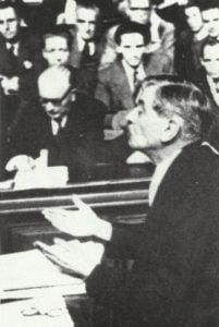 Pierre Laval vor Gericht