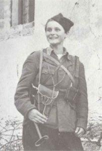 weibliche jugoslawische Partisanin