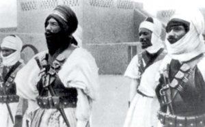 Frei-französische Kamel-Soldaten
