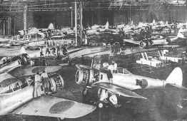 Japanische Flugzeugfabrik