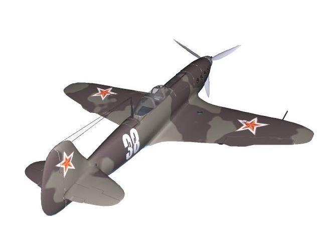 3D-Modell der Jakowlew Jak-7.