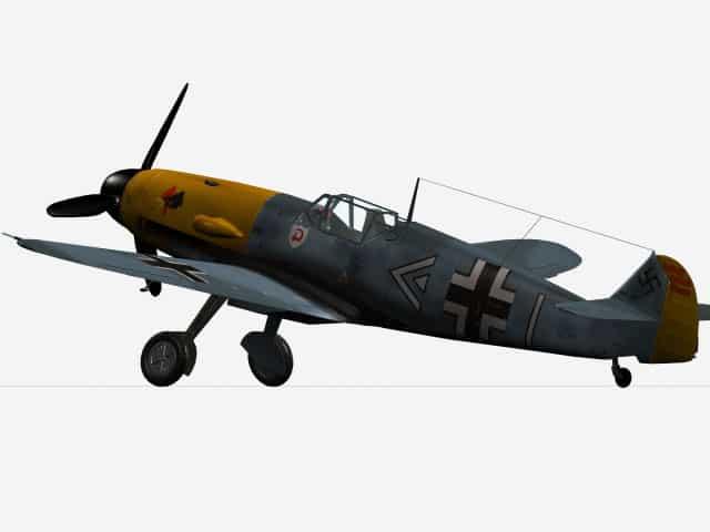3D-Modell Messerschmitt Bf 109 F-4