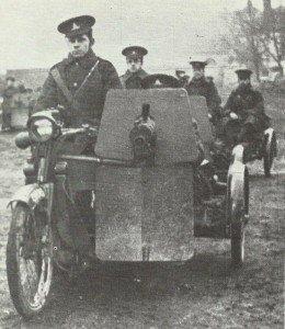 Clyno/Vickers-Motorrad-und Maschinengewehr-Kombination