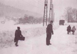 bitterkalter Schneesturm in Kristiansand