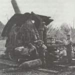 42-cm-Mörser 'Dicke Bertha' in Feuerstellung