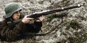ungarischer Soldat Mannlicher Gewehr
