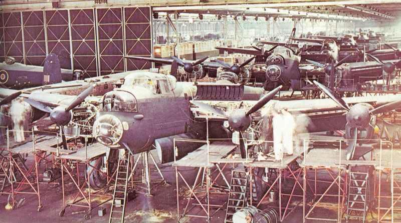 Endmontage von Avro Lancaster