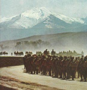 Vormarsch deutscher Infanterie in Griechenland