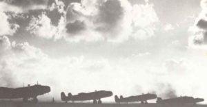 Handley Page Halifax Bomber vor dem Start