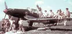 Bodenpersonal eines Junkers Ju87