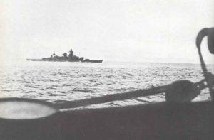 Schlachtkreuzer  Scharnhorst auf Feindfahrt im Atlantik