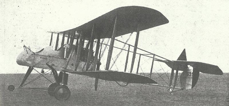 F.E.2b mit 120-PS-Beardmore-Motor