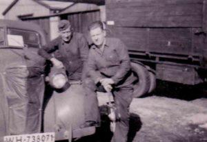 bei der Werkstatt-Kompanie der deutschen 214. Inafnterie-Division