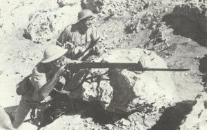 Polnische Soldaten in Tobruk