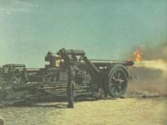 deutsche schwere Batterie im Direktbeschuss