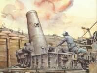 Mortier de 370 Filloux beschiesst deutsche Stellungen