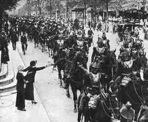 Abmarsch der framzösischen schweren Kürassier-Kavallerie