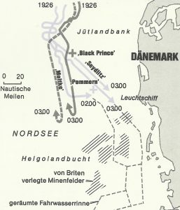 Karte Nachtgefechte Skagerrak