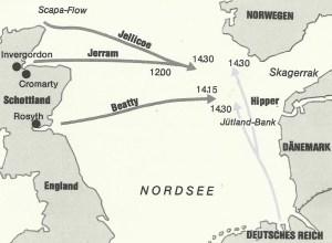 Aufmarsch der Flotten zum Skagerrak