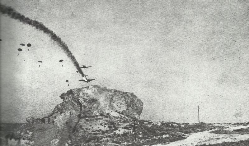 Ju 52 stürzt über Kreta ab