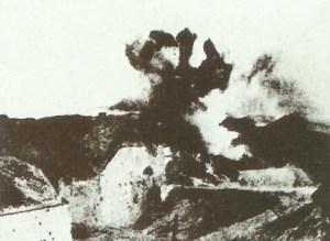 Fort Vaux unter Beschuß