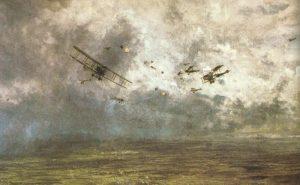 Luftkämpfe über der Westfront.