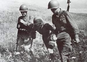 Sowjetischer Verwundeter 1941