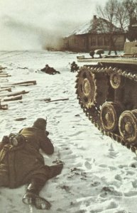 im Schnee vor Moskau