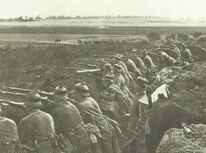 Deutsche Truppen bei einem Manöver
