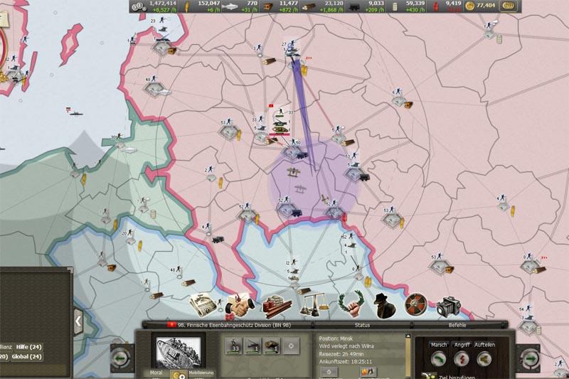 Finnische Truppenkonzentrationen und Befestigungen