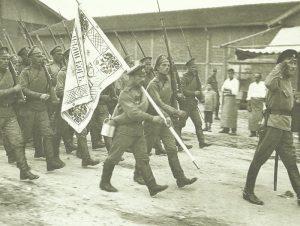 Russische Soldaten in Saloniki