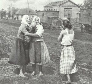 leidende russische Zivilbevölkerung