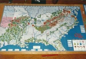 Kriegsspiel Amerikanischen Bürgerkrieg