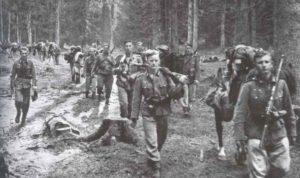 Deutsche Infanterie bei Leningrad