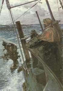 'U 53' auf Atlantikfahrt.