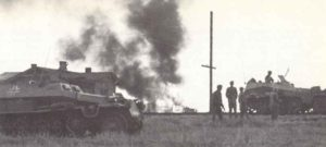 Vormarsch einer Vorausabteilung einer deutschen Panzerdivision