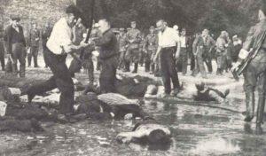 arbarischen Ermordung von hunderten Juden