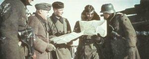 Panzer- und Infanterieoffiziere bei Klin