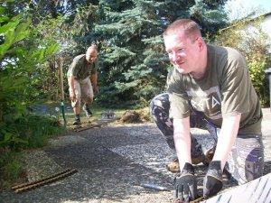 Gartenbahn im Bau