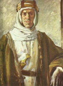 T.E. Lawrence in arabischer Kleidung