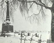 Deutsche Soldatengräber neben dem Zarendenkmal für die Schlacht von Borodino