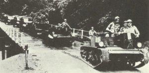 Kolonne australischer Truppen