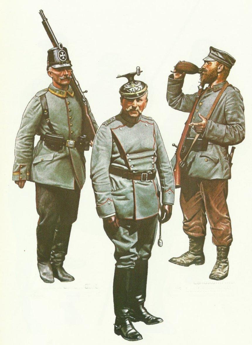 Uniformen Landwehr, Landsturm